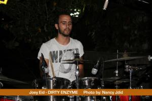 Joey Eid (drummer) from DIRTY ENZYME
