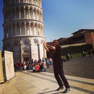 Zak Fixing The Pisa Tower - Italy